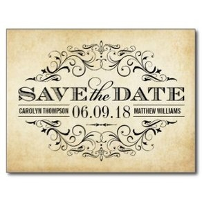 Vintage Wedding Save The Date Announcements