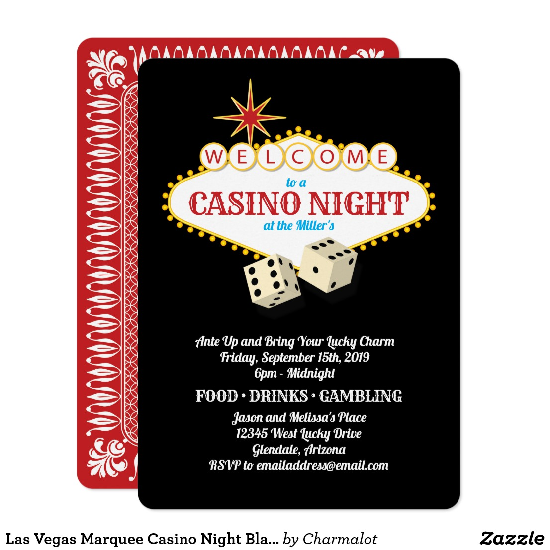 Casino Night Invitations