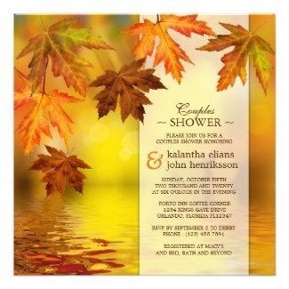 Autumn Fall Couple's Shower Invitations