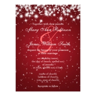 Elegant Winter Wedding Invitations