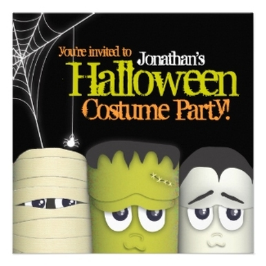 Halloween Costume Party Personalized Announcements