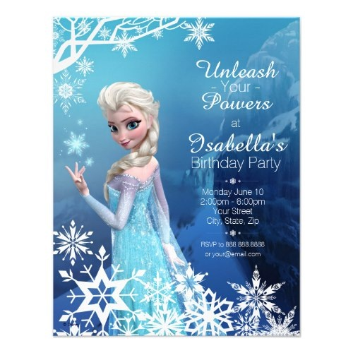 Personalized Party Invitations Announcements Party Invitations - Birthday invitation frozen theme