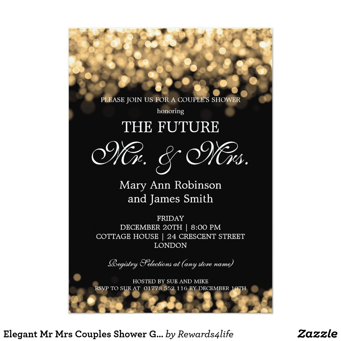 Mr & Mrs Couples Shower Invitations