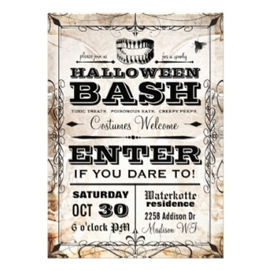 Vintage Halloween Party Invitations