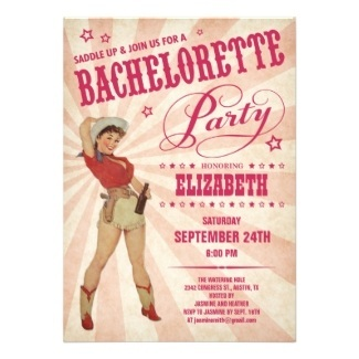 Western Style Bachelorette & Bridal Shower Invitations