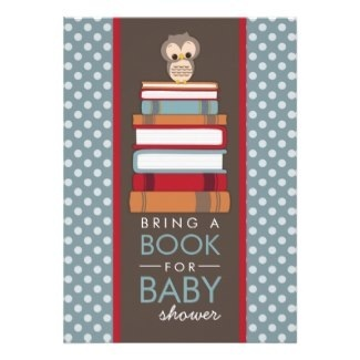 Bring A Book Baby Shower Invitations