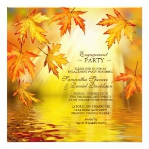 Autumn / Fall Engagement Party Invitations