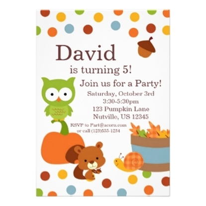 Personalized Party Invitations Announcements Party Invitations – Fall Birthday Party Invitations
