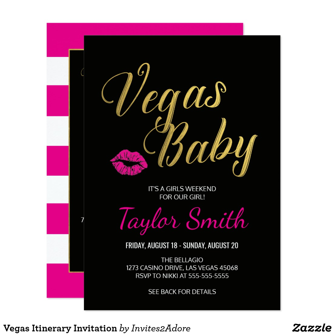 Las Vegas Bachelorette Party Invitations