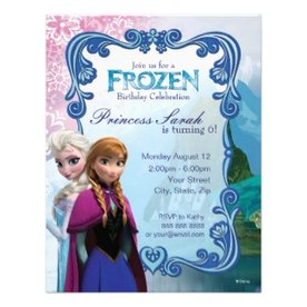 Frozen Birthday Invitation by disney
