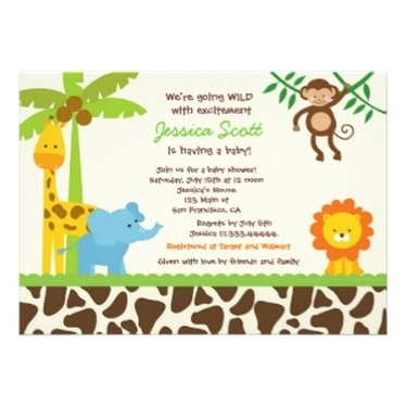 Jungle Baby Shower Invitations