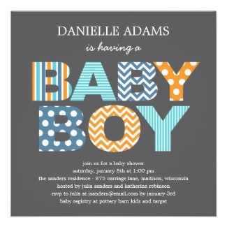 Baby Shower Invitation Boy
