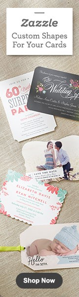 Custom Shape Invitations  Announcements