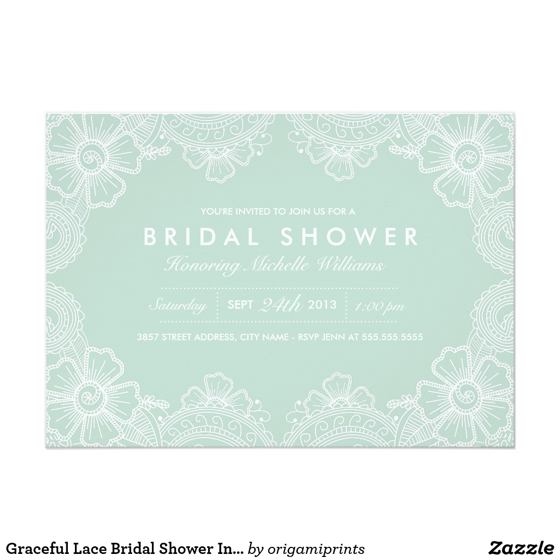 Lace Bridal Shower Invitations