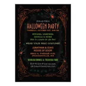 Elegant Halloween Party Invitations