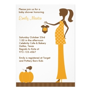 Chic Fall baby shower Invitations