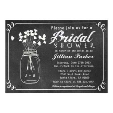 Chalkboard Bridal Shower Invitations