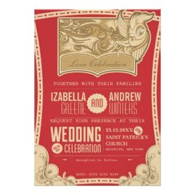 Art Deco Wedding Invitation by PaperDilly