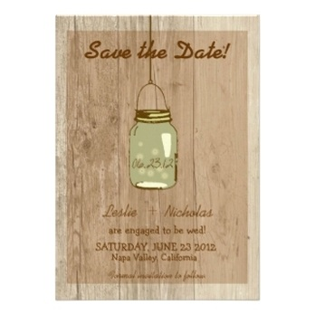 Mason Jar Save The Date Announcements