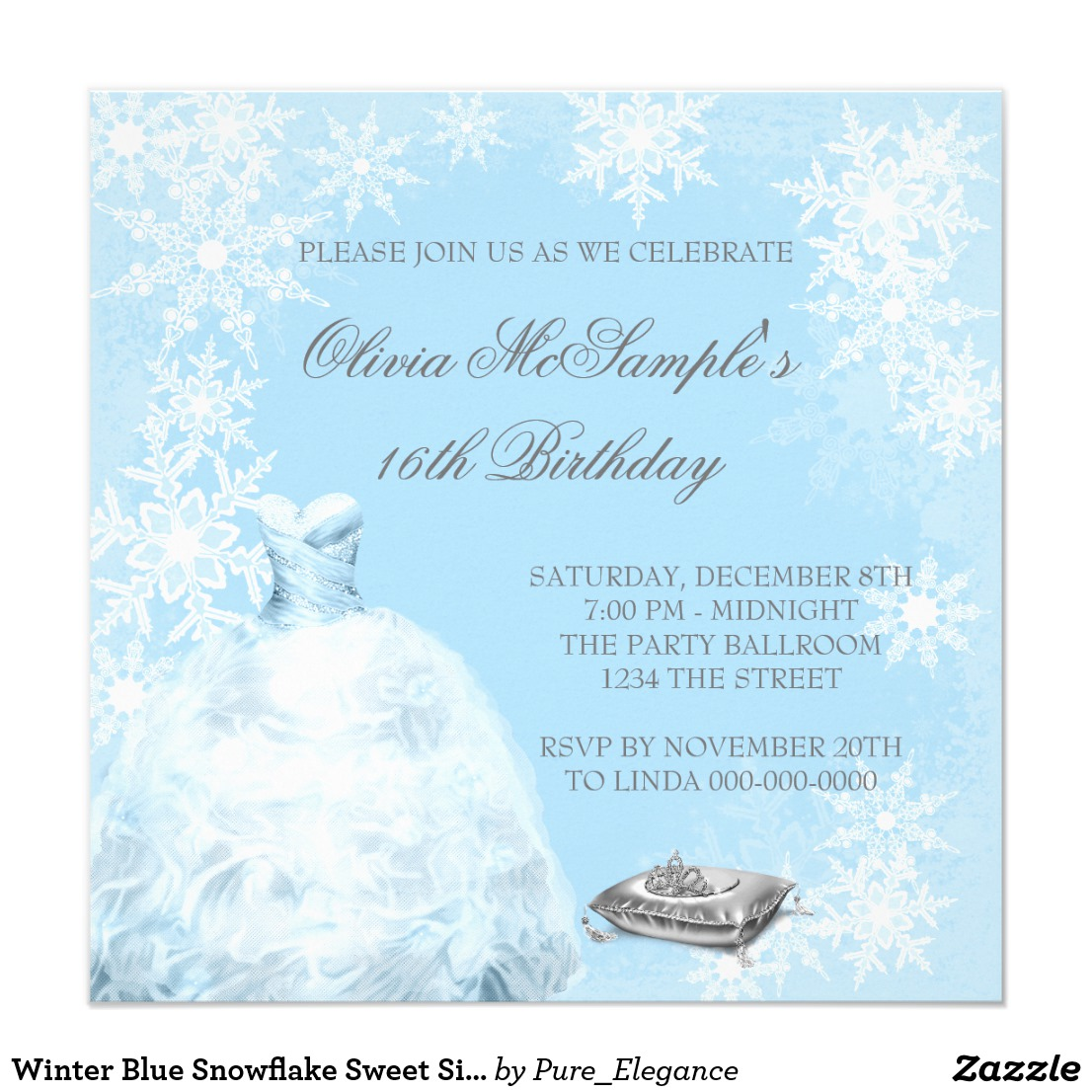 Fairytale Princess Sweet 16 Invitations