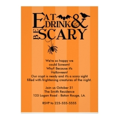 Modern Typography Halloween Party Invitations