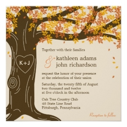 Autumn / Fall Wedding Invitations