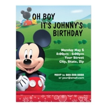 Disney Kids Birthday Party Invitations