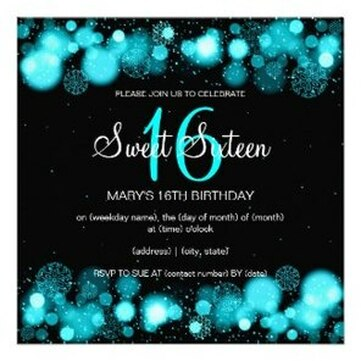 Winter Sweet 16 Party Invitations